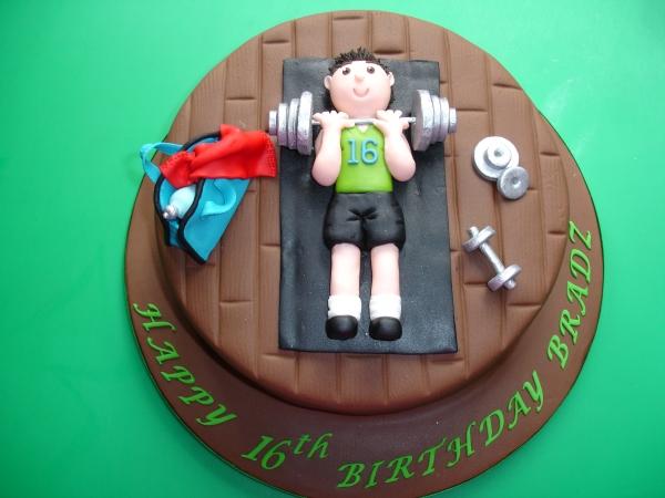 Design Of Gym Cake : 30th Birthday Gym Cake It s Always Someone s Birthday
